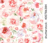 watercolor flower background... | Shutterstock . vector #400786384