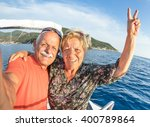 adventurous senior couple... | Shutterstock . vector #400789864