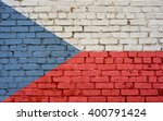 Flag Of Czech Republic Painted...