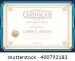 certificate or diploma template ... | Shutterstock .eps vector #400792183