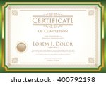 certificate or diploma template ... | Shutterstock .eps vector #400792198