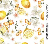 watercolor pattern with... | Shutterstock . vector #400792990