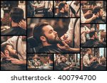 barber at work. collage of... | Shutterstock . vector #400794700