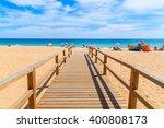 Wooden Footbridge To Sandy...