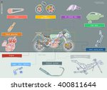 diagram systems in sports motor ... | Shutterstock .eps vector #400811644