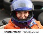 portrait of a girl wearing a... | Shutterstock . vector #400812013