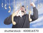 guy making funny gestures | Shutterstock . vector #400816570