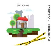 earthquake insurance colourful... | Shutterstock .eps vector #400818823