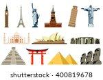 famous world landmarks. travel... | Shutterstock .eps vector #400819678