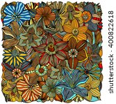 ethnic colored floral zentangle ... | Shutterstock .eps vector #400822618