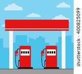 gas station vector illustration ... | Shutterstock .eps vector #400825099