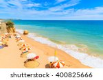 a view of beautiful sandy beach ... | Shutterstock . vector #400825666