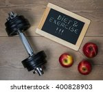 diet and exercise concept.... | Shutterstock . vector #400828903