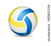 abstract colorful volleyball... | Shutterstock .eps vector #400831534