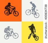 bike and bikers man... | Shutterstock .eps vector #400834738