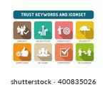 trust flat icon set | Shutterstock .eps vector #400835026