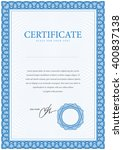 certificate. template diplomas  ... | Shutterstock .eps vector #400837138