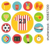 football set. soccer vector... | Shutterstock .eps vector #400837330
