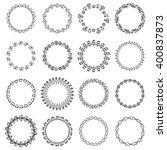 round black and white border... | Shutterstock .eps vector #400837873