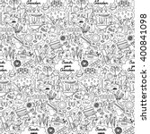seamless pattern with hand... | Shutterstock .eps vector #400841098