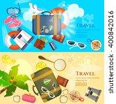 travel banner summer adventures ... | Shutterstock .eps vector #400842016
