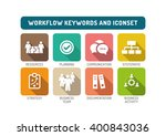 workflow flat icon set | Shutterstock .eps vector #400843036