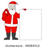 cute santa claus with a list... | Shutterstock .eps vector #40084513