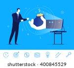 flat design vector concept... | Shutterstock .eps vector #400845529