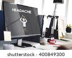 depression headache stress... | Shutterstock . vector #400849300
