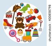 cute toys design  | Shutterstock .eps vector #400858798