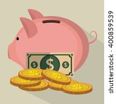 money concept design  | Shutterstock .eps vector #400859539