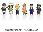 six different professions  set... | Shutterstock .eps vector #40086262