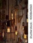 decorative antique edison style ... | Shutterstock . vector #400864060