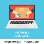 concept of the fast delivery... | Shutterstock .eps vector #400866184