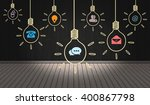 contact means icons on digital... | Shutterstock . vector #400867798