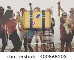 luggage bagage travel tourism... | Shutterstock . vector #400868203