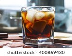 rum cocktail in a glass with... | Shutterstock . vector #400869430
