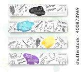 hand drawn banner template....   Shutterstock .eps vector #400873969