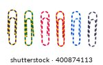 multicolored paperclips on... | Shutterstock . vector #400874113