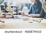 team meeting process.photo... | Shutterstock . vector #400874410