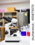 microscopes in  lab roo   Shutterstock . vector #400875070