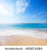 beach and tropical sea | Shutterstock . vector #400876384