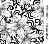 black and white seamless... | Shutterstock .eps vector #400880833