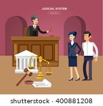 law horizontal banner set with... | Shutterstock .eps vector #400881208