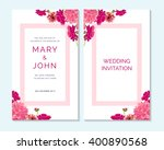 wedding invitation  thank you... | Shutterstock .eps vector #400890568