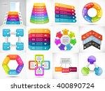 vector 3d arrows infographic ... | Shutterstock .eps vector #400890724