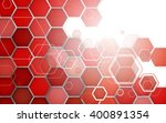 abstract red background hexagon.... | Shutterstock .eps vector #400891354