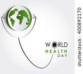 vector world health day design... | Shutterstock .eps vector #400892170