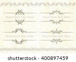 set of 4 decorative vector text ... | Shutterstock .eps vector #400897459