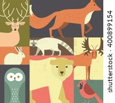 forest animals made in... | Shutterstock .eps vector #400899154